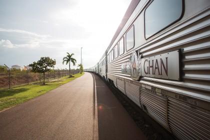 The Ghan train.